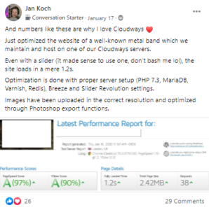 Cloudways reviews of performance
